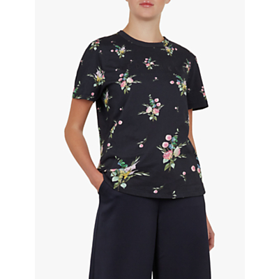 Ted Baker Aishah Floral T-Shirt, Black
