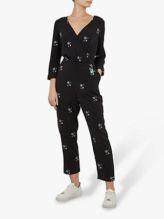 Ted Baker Colour By Numbers Duasba Midnight Sun Jumpsuit, Black