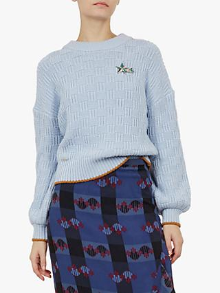 Ted Baker Colour By Numbers Luisa Jumper, Light Blue