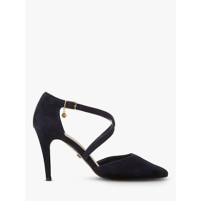 104462d25 ... Dune Clancy Cross Strap Pointed Toe Court Shoes