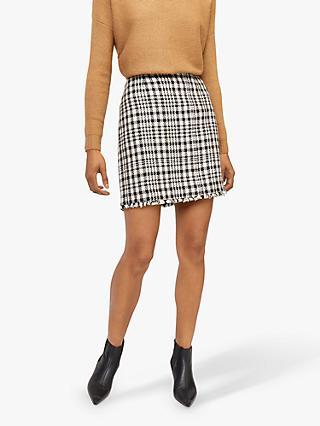 7af2e9af4d Warehouse Houndstooth Check Mini Skirt, Multi