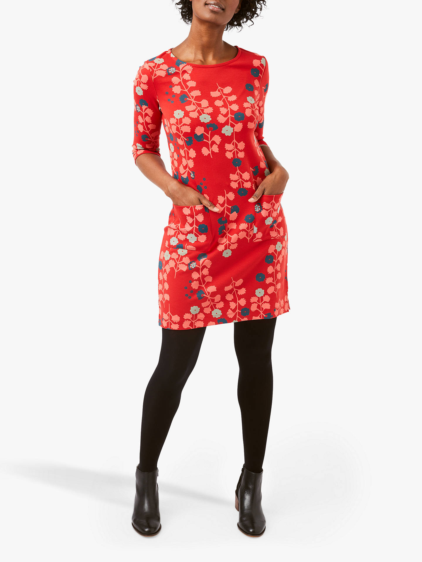 BuyWhite Stuff Albie Floral Print Cotton Dress, Multi, 10 Online at johnlewis.com