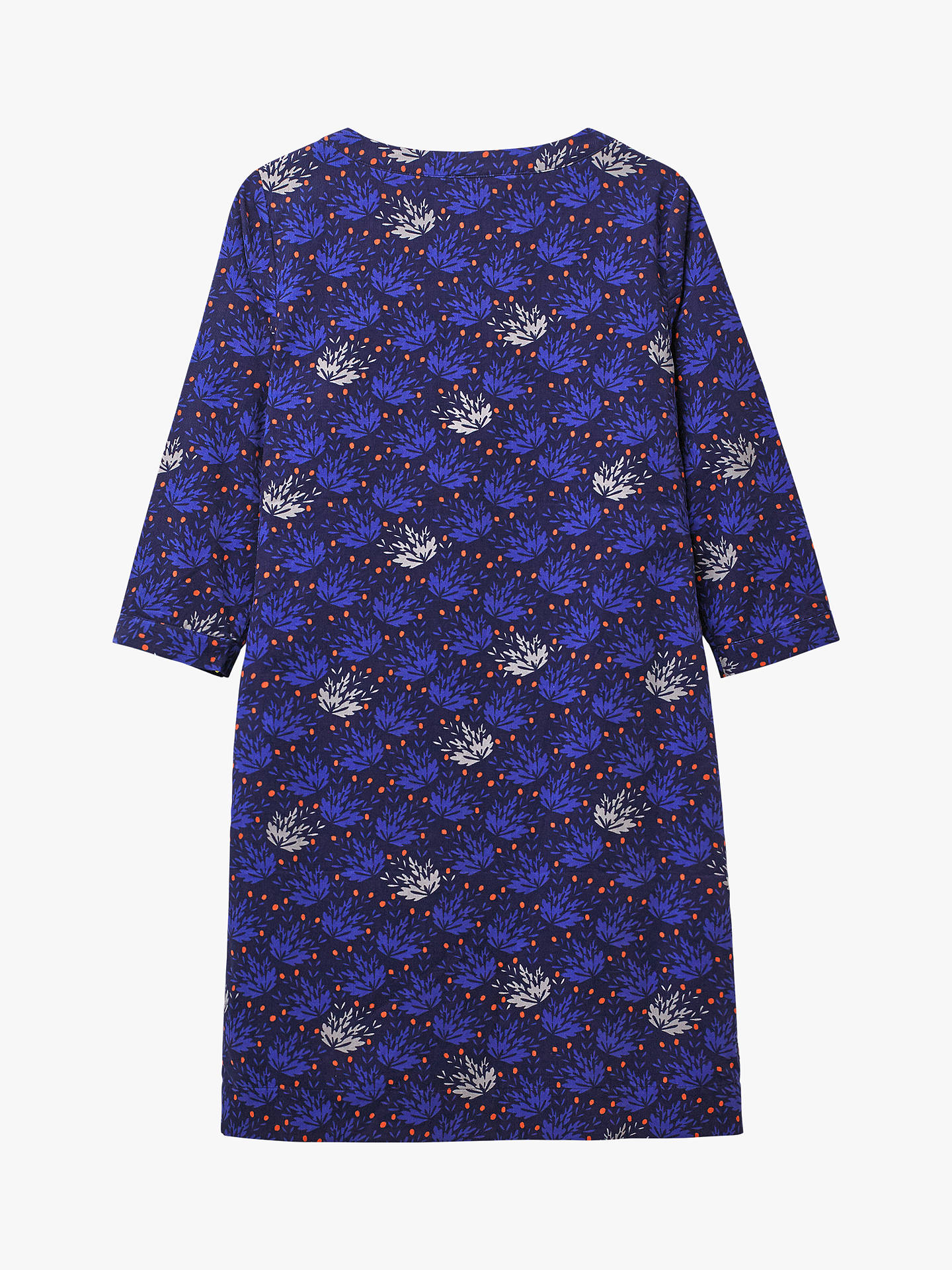 BuyWhite Stuff Petra Leaf Print Cord Tunic Dress, Blue/Multi, 16 Online at johnlewis.com