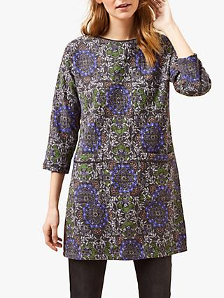 White Stuff Lyon Textured Abstract Floral Tunic Dress, Multi
