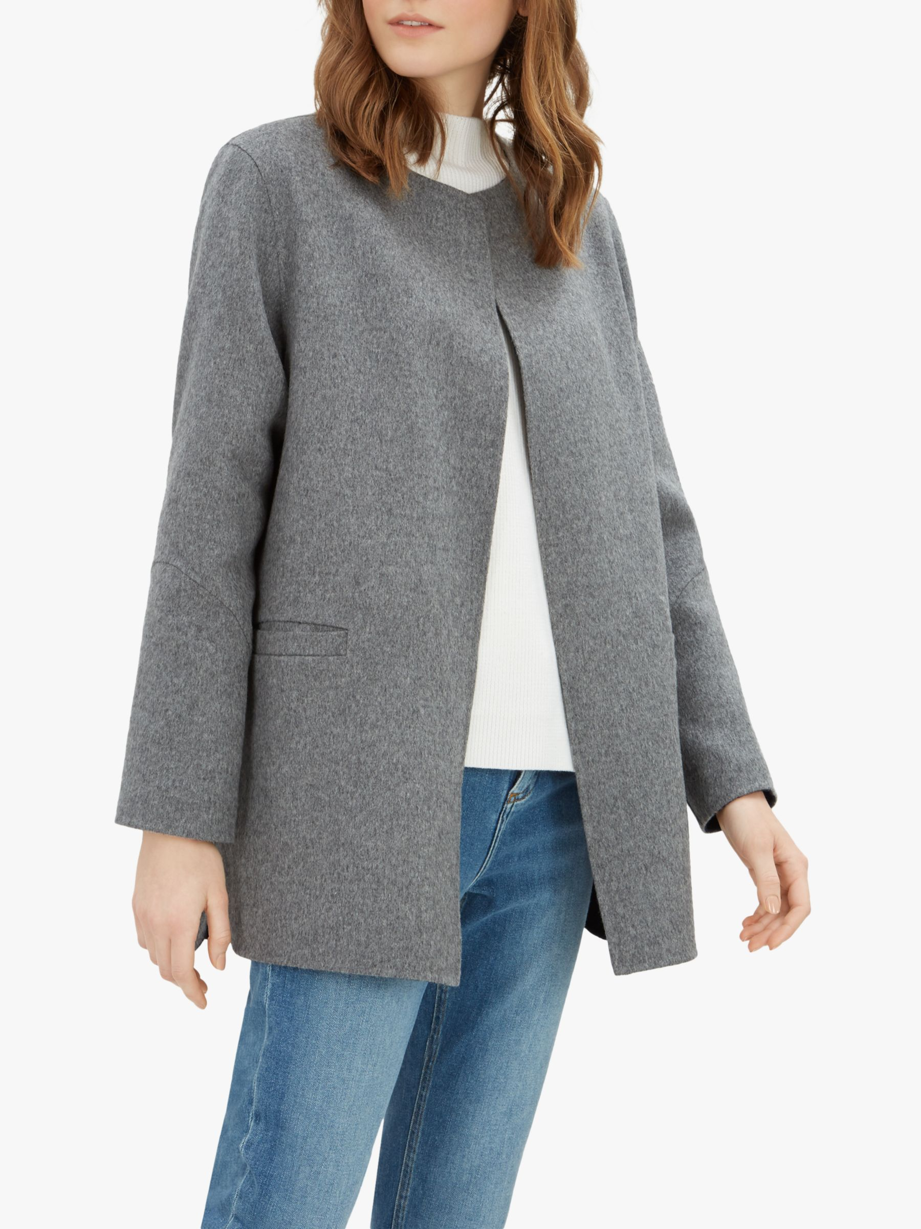 Jaeger Jaeger Double Faced Wool Duster Coat, Grey