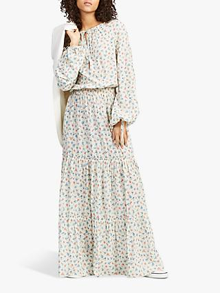 762dbabec5d Polo Ralph Lauren Ditsy Floral Tiered Long Dress, Multi