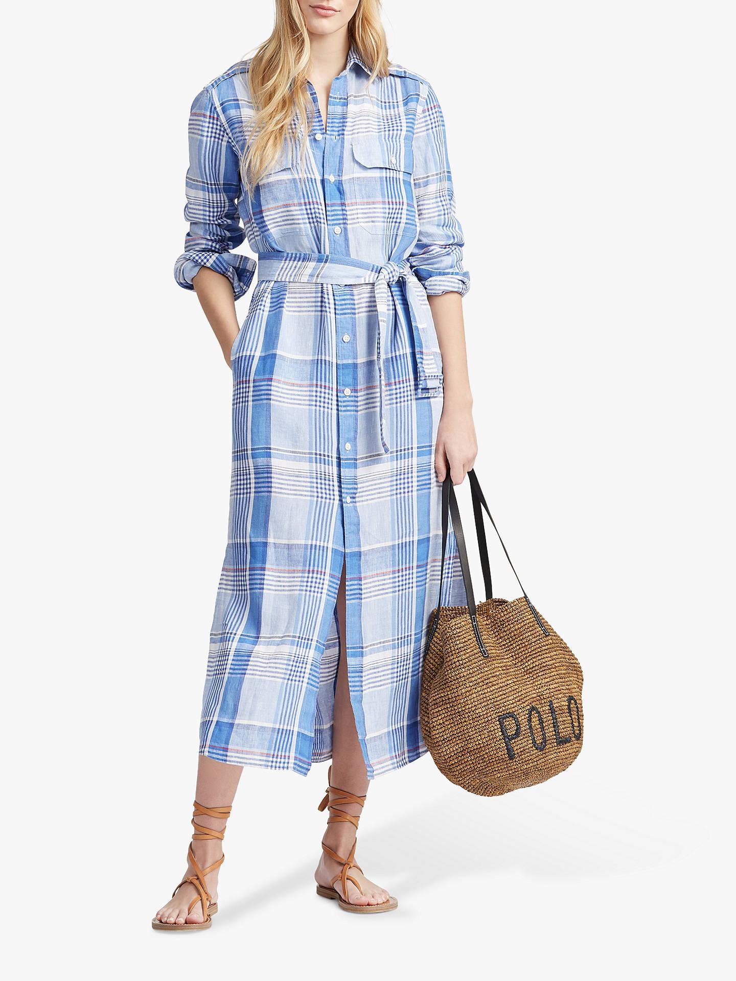 4a2c318a7 Buy Polo Ralph Lauren Linen Check Midi Shirt Dress