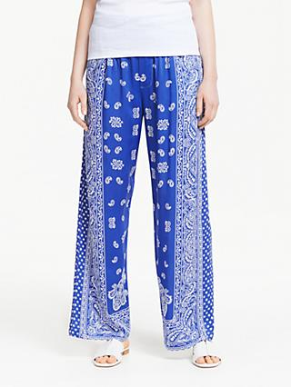 Polo Ralph Lauren Paisley Print Trousers, Blue