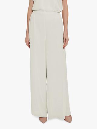 51e2985026 Gina Bacconi Wide Leg Side Slit Chiffon Trousers
