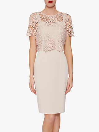 Gina Bacconi Coralise Two Piece Dress, Antique Rose