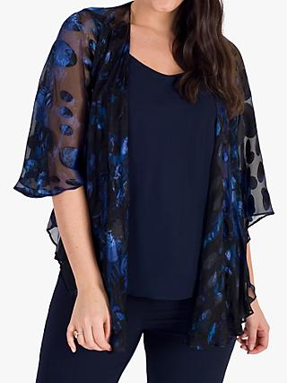 Chesca Abstract Spot Shawl, Midnight