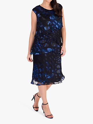 Chesca Abstract Dress, Midnight