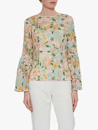 18f915e8663c20 Gina Bacconi Nuala Floral Embroidered Top