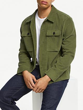 d66ab103a59 JOHN LEWIS & Co. Newman Cotton Cord Jacket, Khaki Green