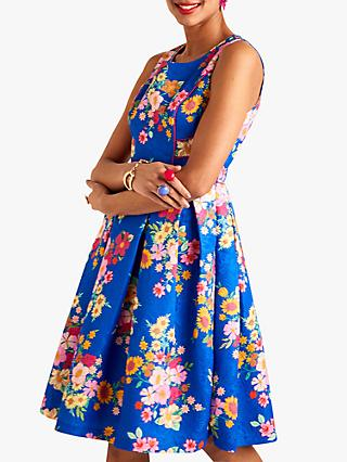 Yumi Sunflower Jacquard Dress, Blue
