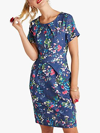 Yumi Floral Tulip Dress, Navy