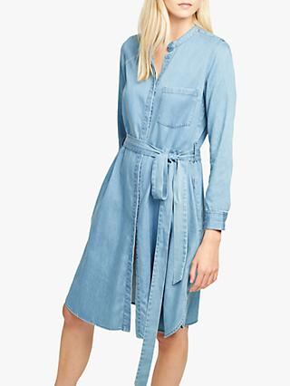 French Connection Leondra Shirt Dress, Denim Blue