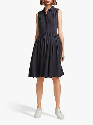 French Connection Enya Drape Dress, Utility Blue