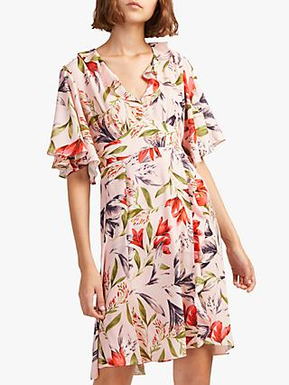 French Connection Cadencia Crepe Mini Dress, Light Sweet Pea Multi