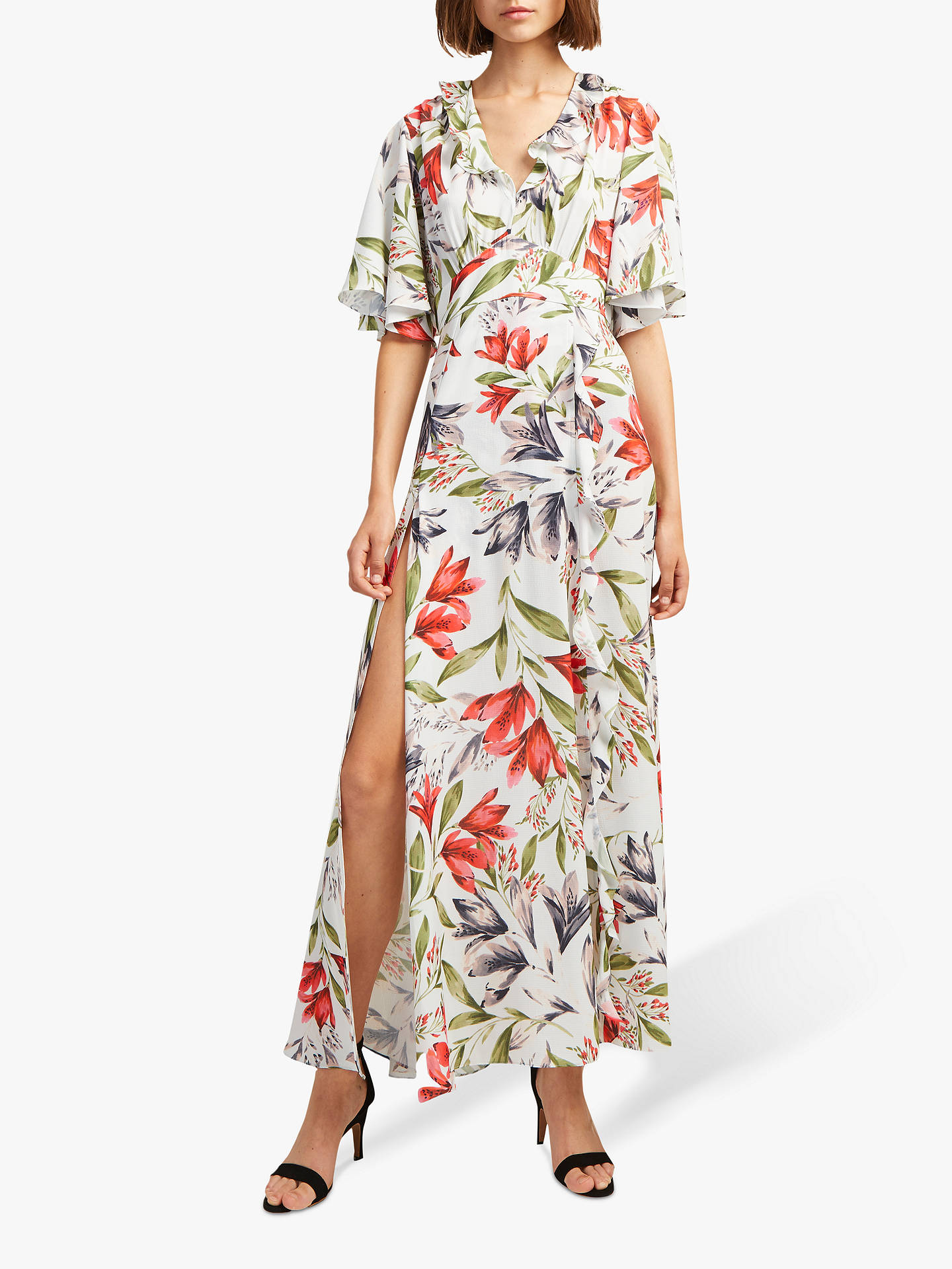 9fab38d9550 Buy French Connection Cadencia Crepe Maxi Dress, Light Dream Blue Multi, 14  Online at ...