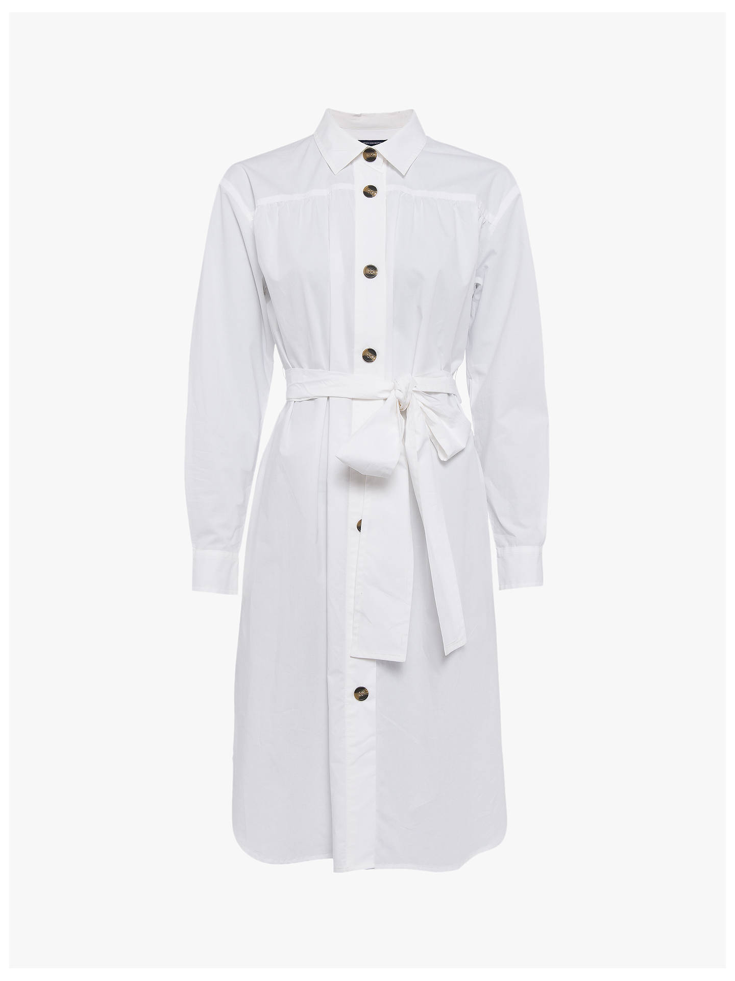 French Connection Southside Belted Dress, Linen White