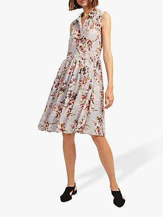 French Connection Alerie Drape Sleeveless Dress, Multi