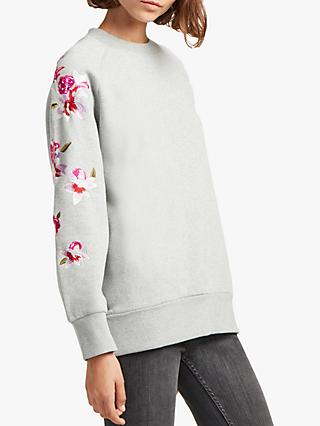b3c5e2a18fe8 French Connection Victorina Floral Embroidery Sweatshirt