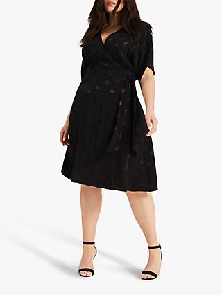 Studio 8 Whitney Spot Wrap Dress, Black