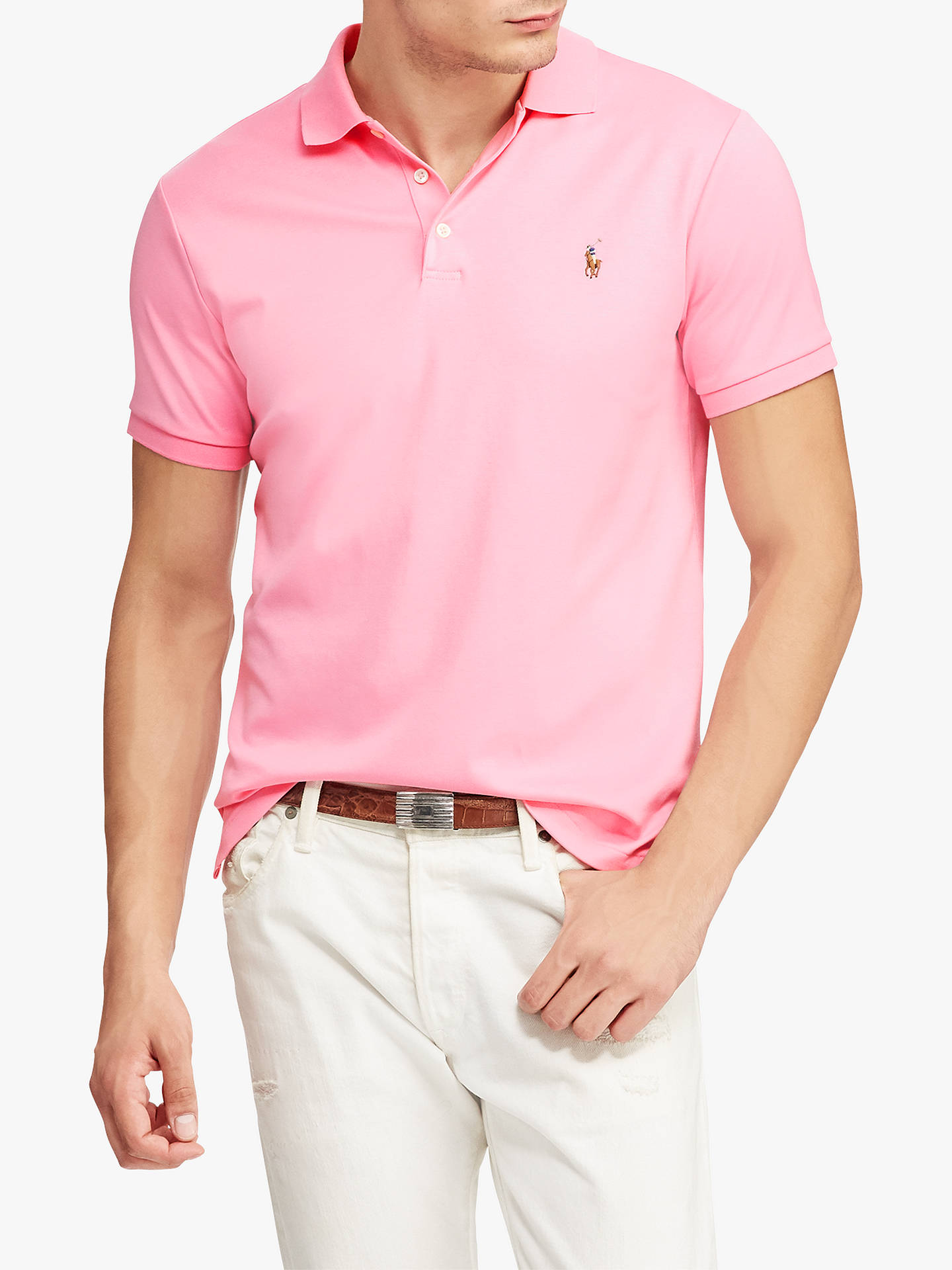 92fdbdce Buy Polo Ralph Lauren Polo Shirt, Harbor Pink, S Online at johnlewis.com ...