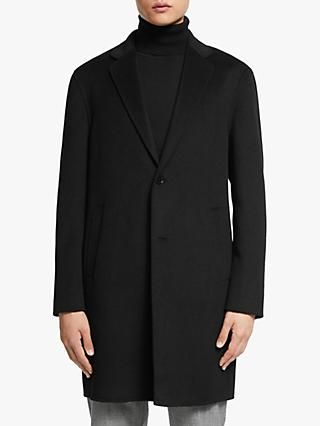Kin Double Faced Wool Blend Overcoat, Black