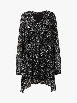 AllSaints Nicola Pippa Flare Dress, Black