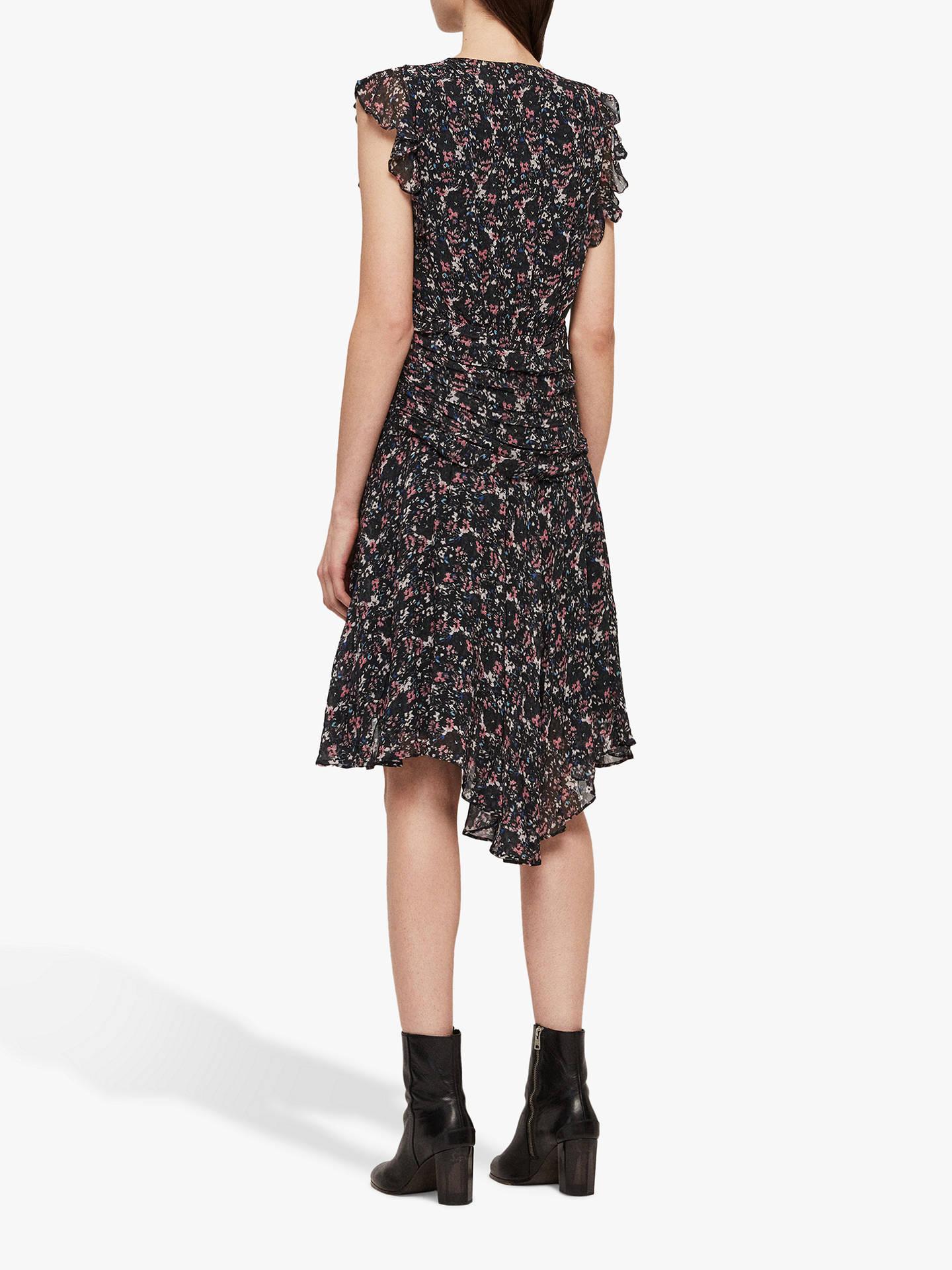 AllSaints Caris Sketch Dress, Black