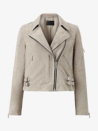 f0407a1987f AllSaints Suede Prescott Biker Jacket