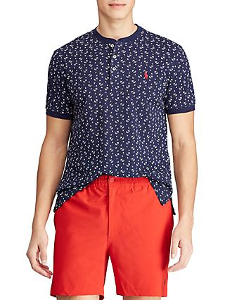 Polo Ralph Lauren Anchor Print Henley T-Shirt, Navy