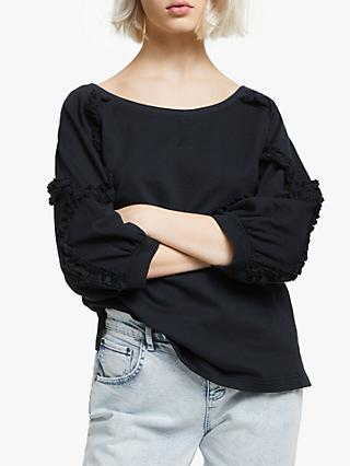 AND/OR Lana Frill Sweatshirt, Black