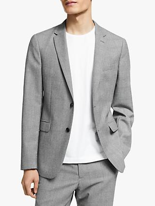 Kin Wool Check Slim Fit Suit Jacket, Grey