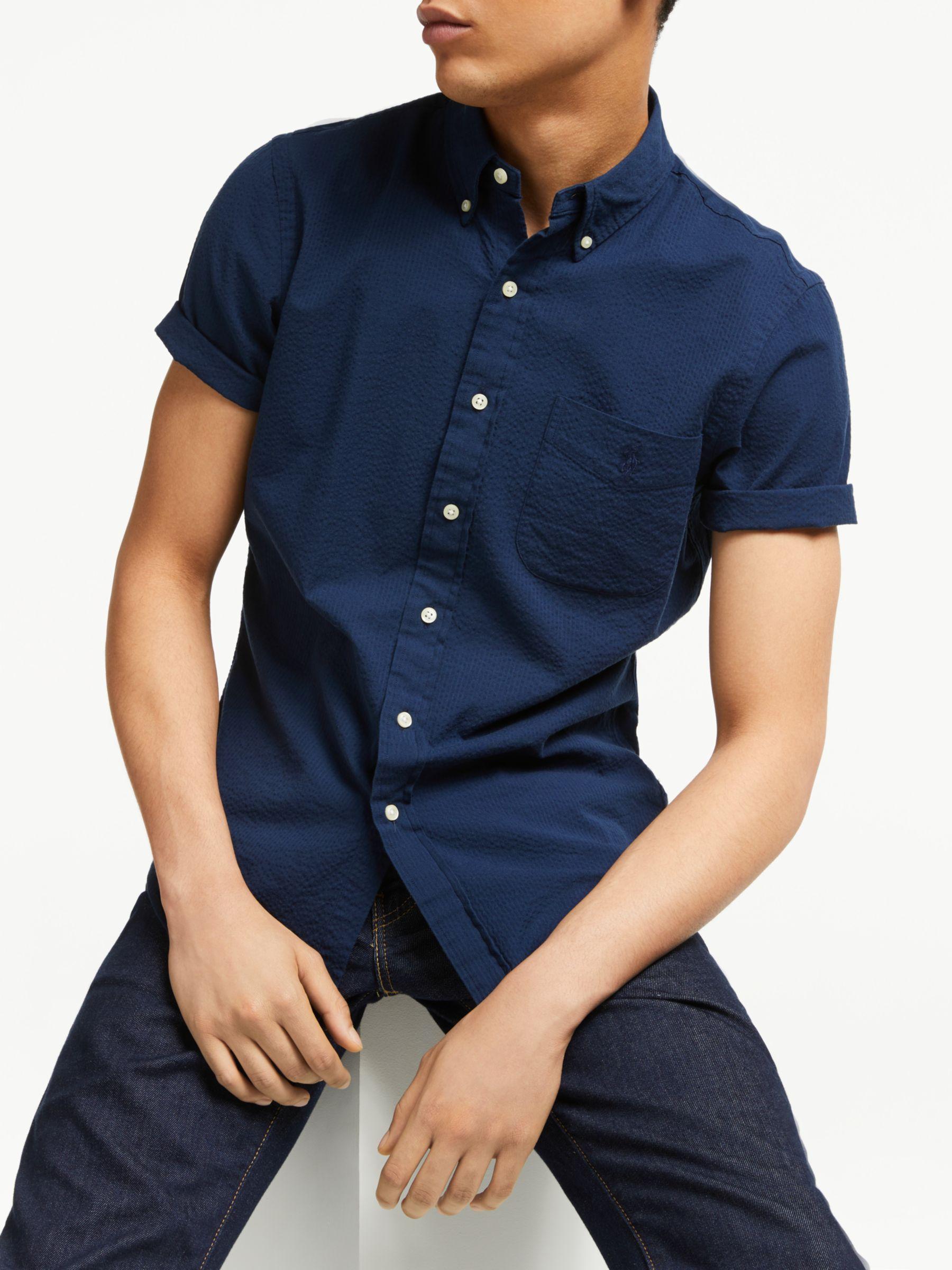 Polo Ralph Lauren Cotton Seersucker Short Sleeve Shirt At John
