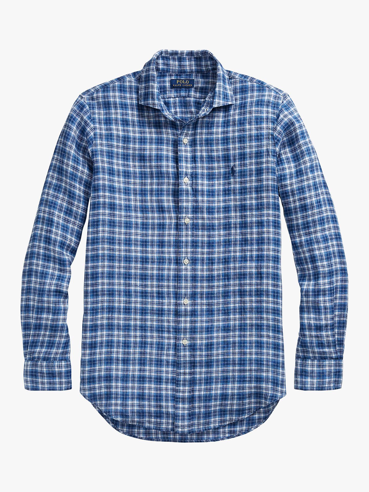 b28a37648 ... Buy Polo Ralph Lauren Linen Plaid Slim Fit Shirt
