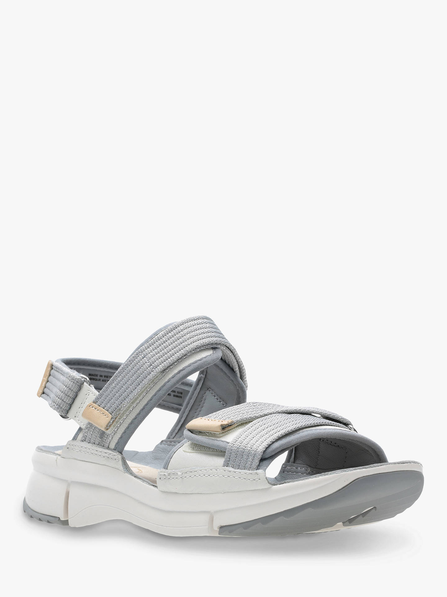 Buy Clarks Tri Walk Strap Sandals, White Combi Leather, 3 Online at johnlewis.com