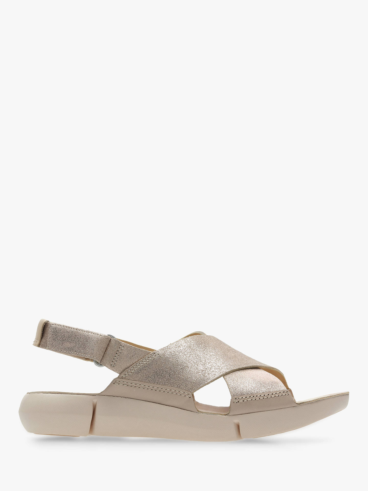 1290fc04477f4 Buy Clarks Tri Chloe Cross Strap Sandals, Nude/Pink Suede, 5 Online at ...