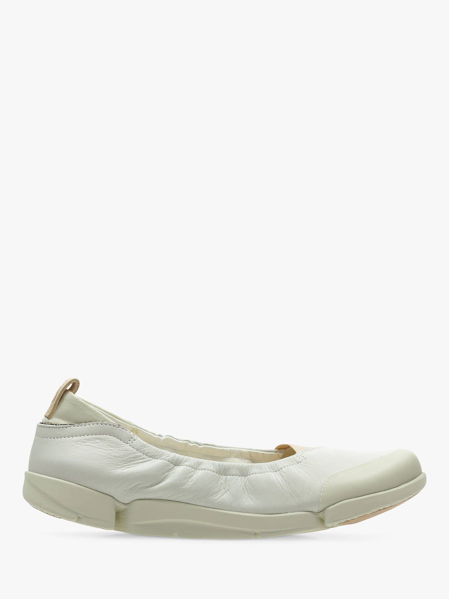 b8911ae5a8 Buy Clarks Tri Adapt Sporty Pumps, White Leather, 5 Online at johnlewis.com  ...