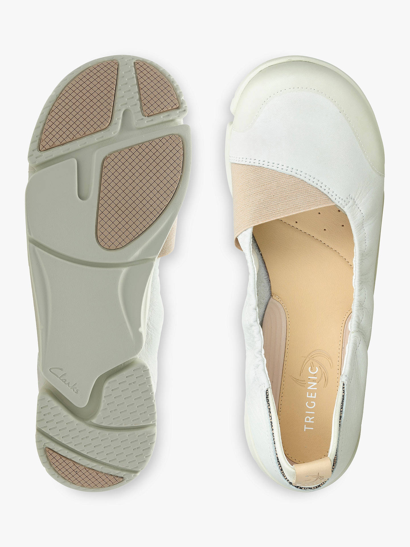 4e7d4f35cf ... Buy Clarks Tri Adapt Sporty Pumps, White Leather, 5 Online at  johnlewis.com ...