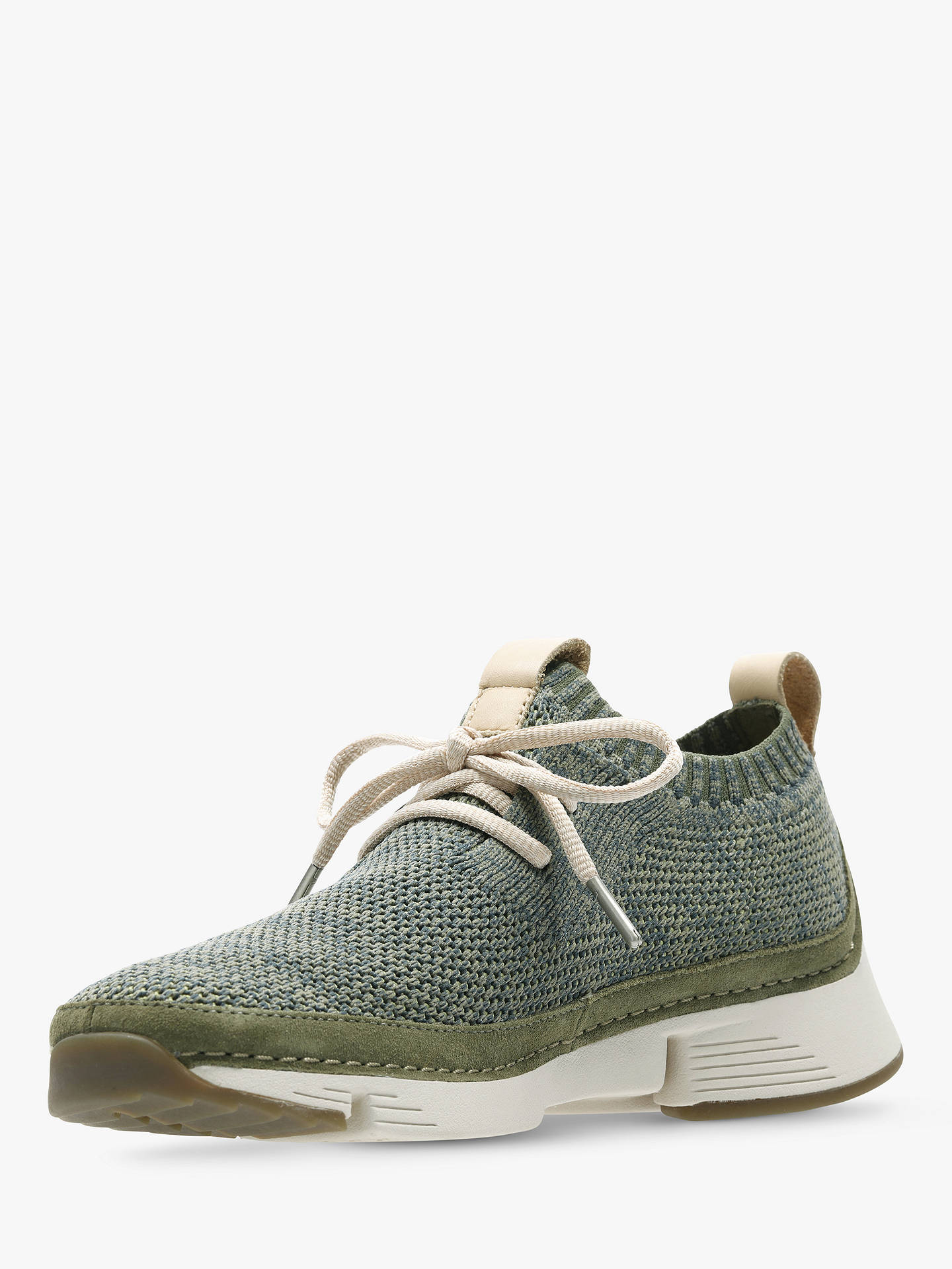 Buy Clarks Tri Native Trainers, Khaki Combo, 4 Online at johnlewis.com