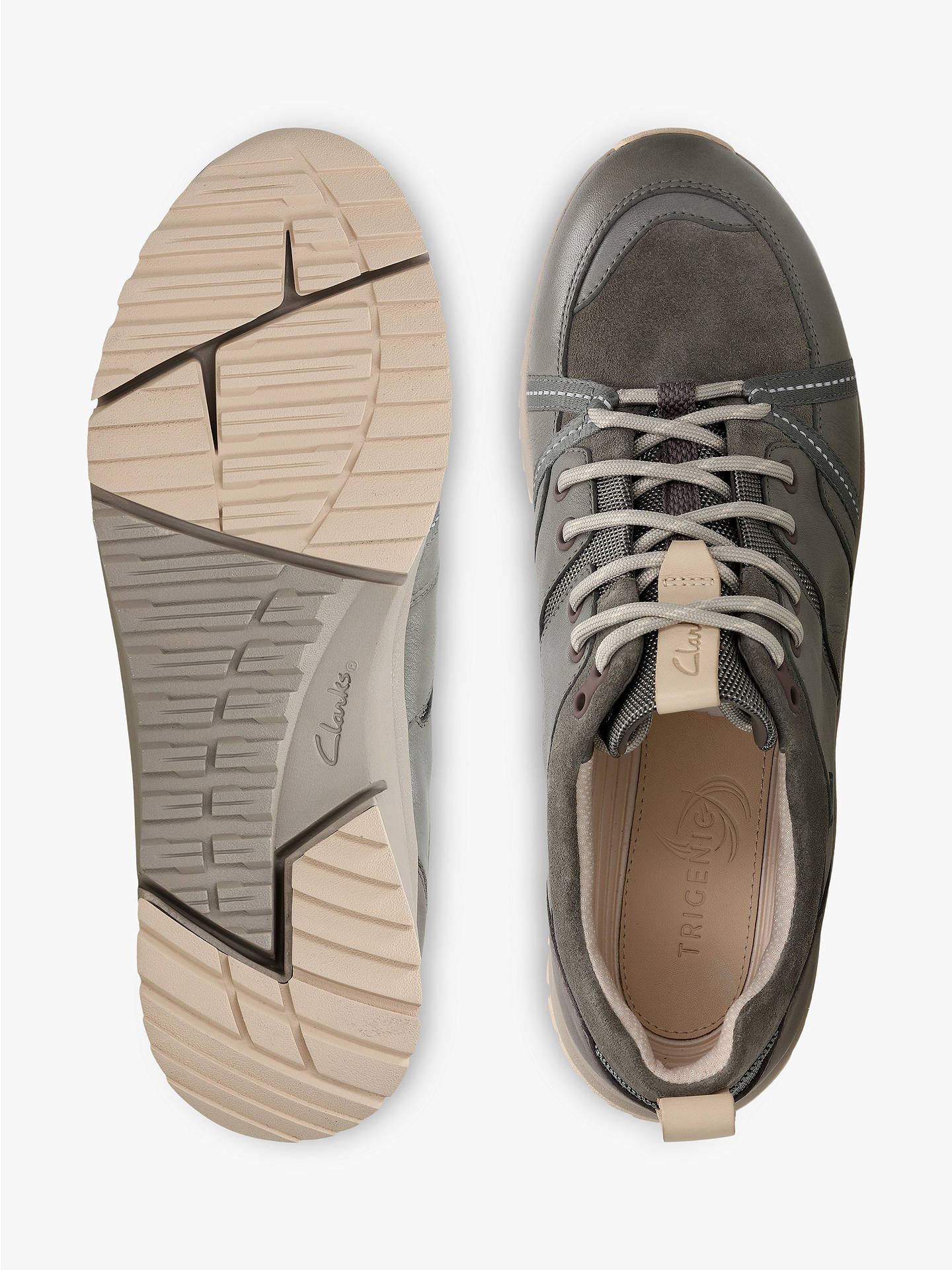 4bd2e3a4 ... Buy Clarks Tri Trek GORE-TEX Trainers, Khaki Leather, 3 Online at  johnlewis