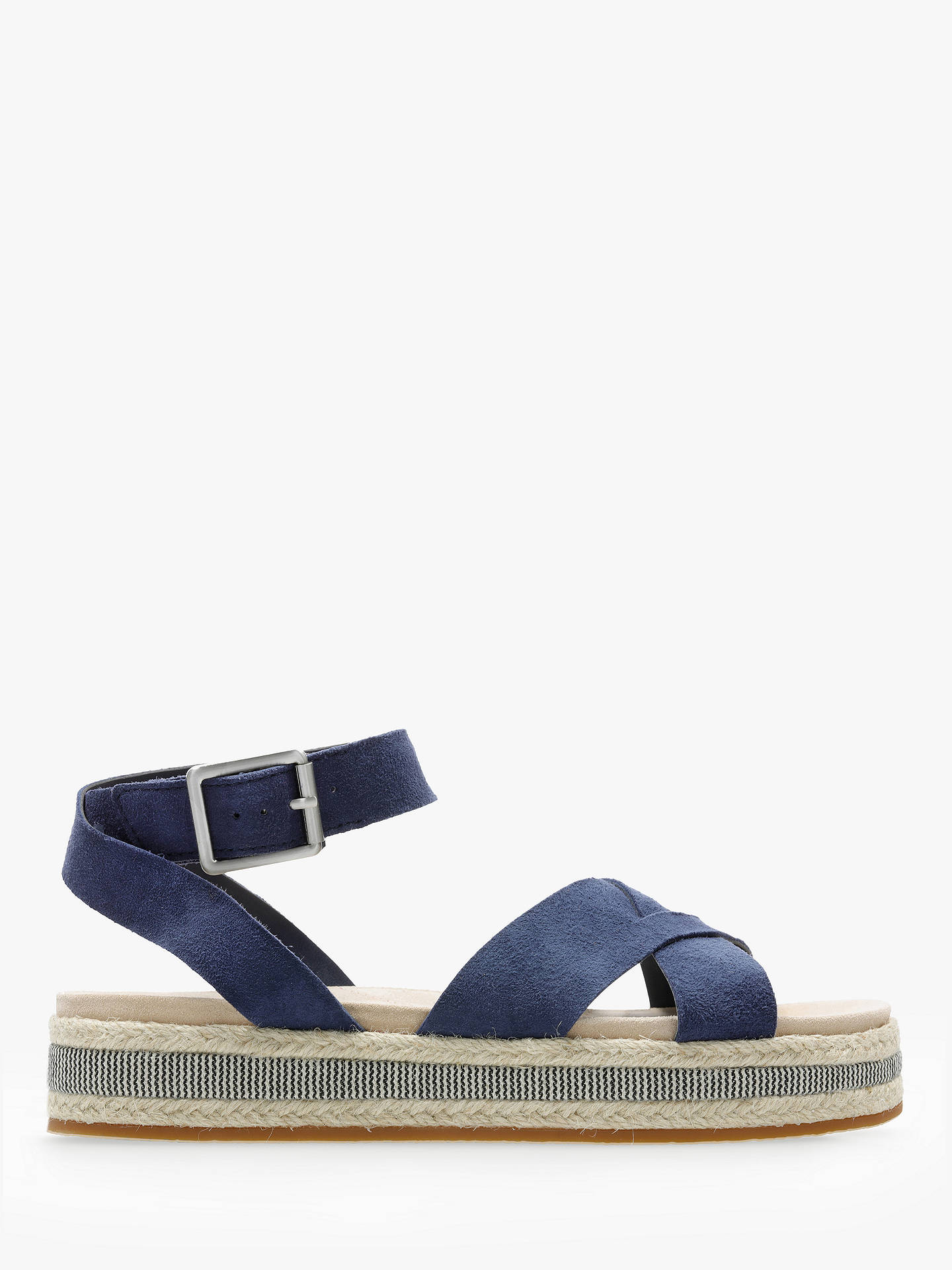 27d70b9e5bda4 Buy Clarks Botanics Poppy Sandals, Navy Suede, 3 Online at johnlewis.com ...