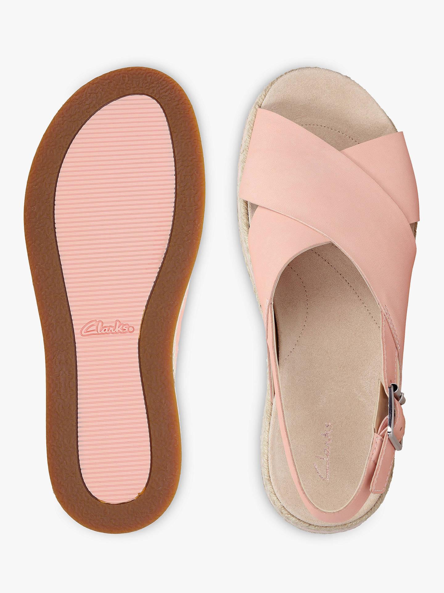 unbeatable price outlet for sale exceptional range of styles and colors Clarks Botanic Fay Sandals, Light Pink Leather