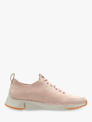 Clarks Tri Spark Trainers, Light Pink