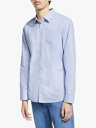 Kin Poplin Stripe Shirt, Blue