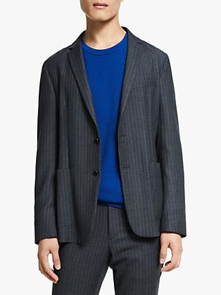 Kin Decon Stripe Suit Jacket, Grey