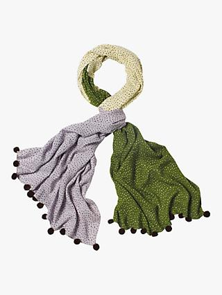 White Stuff Verity Printed Scarf, Ivy Green